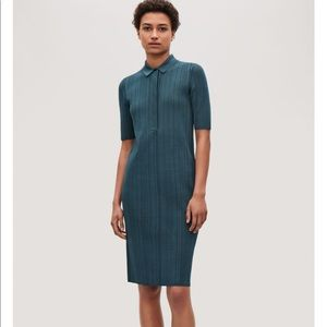 COS ribbed polo dress size S